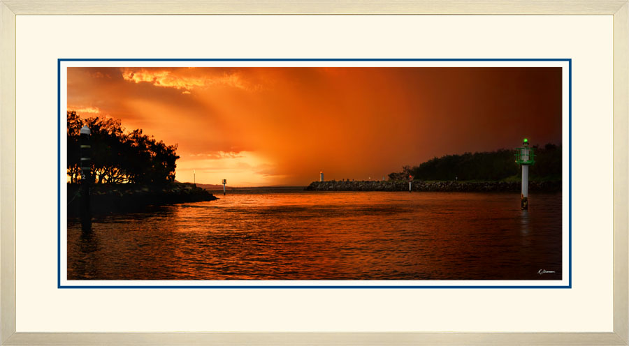 Mooloolah River Entrance Sunset Rain Squall  A  x 900  Wide.jpg