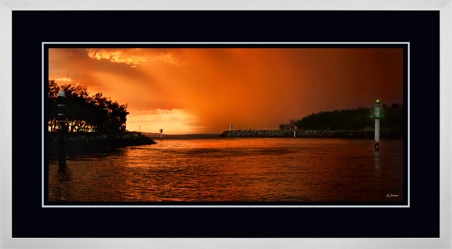 Mooloolah River Entrance Sunset Rain Squall  C  x 900  Wide.jpg